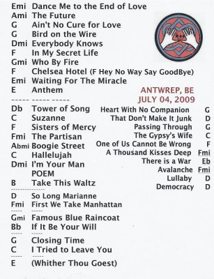 Setlist Antwerp - July 4 2009 (small).jpg