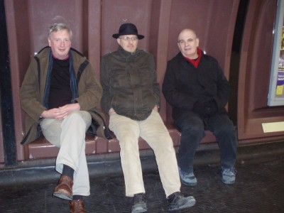 On the way to Chester:Dave, Henning, Ken